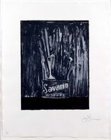 Jasper Johns, 'Savarin 6 (Blue)', 1979