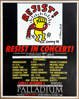 Keith Haring, 'Resist! Resist in Concert at the Palladium, Sunday December 4, 1988 Announcement', 1988