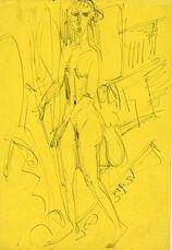 Stehendes nacktes Mädchen (Gerda) (Standing Nude Girl (Gerda))