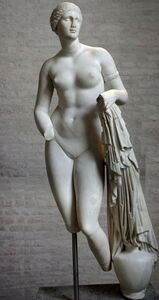 Praxiteles, 'Aphrodite of Knidos, Greco-Roman variant on the original marble of ca. 350 B.C.'