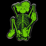 KAWS x NGV Skeleton Pin (Green)