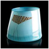 Dale Chihuly Rare Original Blue Blanket Cylinder Hand Blown Glass Signed Artwork