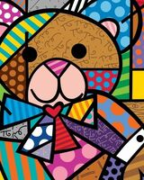 Romero Britto, ' Hug Bear (Ed No.003)', 2020