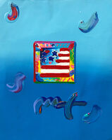 Peter Max, 'FLAG (OVERPAINT)', 2009