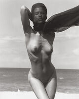 Herb Ritts, 'Female Figure with Veil 1, Hawaii', 1989
