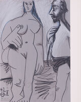 Pablo Picasso, 'Painter and model', 1969