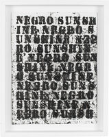 Glenn Ligon, 'Study for Negro Sunshine II, #31', 2011