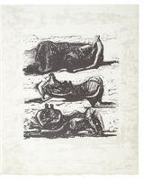 Henry Moore, 'Poetry: Three Reclining Figures ', 1973