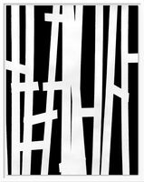 William Klein, 'Thick vertical lines on black, Paris', 1953