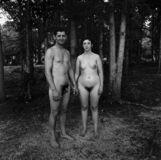 Husband and Wife at a Nudist Camp, N.J.