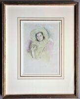 Mary Cassatt, 'Margot Wearing a Bonnet, No. 1', ca. 1902