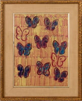 Hunt Slonem, 'Original Untitled Butterfly Painting Contemporary Art', 2020