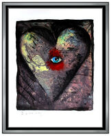 Jim Dine, 'Jim Dine Large Screenprint Etching Aquatint Viennese Hearts Colored Signed Art', 1990