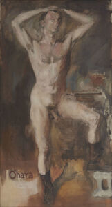 Larry Rivers, 'O'Hara Nude with Boots', 1954