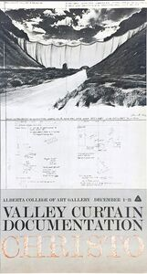 Christo, 'Valley Curtain Exhibition poster (for Alberta College of Art Gallery) ', 1972