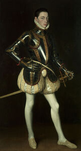Antonis Mor, 'Portrait of Alessandro Farnese wearing armour', ca. 1561