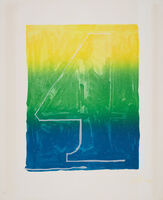 Jasper Johns, 'Figure 4, from Color Numerals Series', 1969