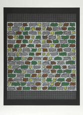 Connections 1925 - 1983 - Study for Hooked Rug, 1964