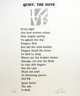 Robert Indiana, 'Quiet, The Dove Poem, Book of Love', 1996
