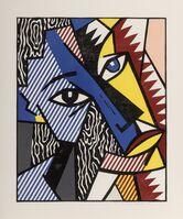 Roy Lichtenstein, 'Head, from Expressionist Woodcut Series', 1980