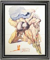 Salvador Dalí, 'Salvador Dali Divine Comedy Glazed Ceramic Signed Nude Portrait Surrealism Art', 1971