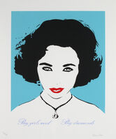 Bambi, 'Big Girls Need Big Diamonds (Liz Taylor) Turquoise', c.2014