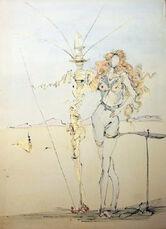 La Femme aux Cheveus d'or et son Garde, 1967