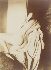 After the Bath, Woman Drying Her Back