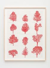 Numbers and Trees: Assorted Trees #1, Red Trees