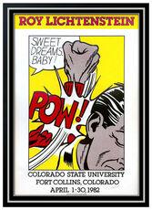 Roy Lichtenstein Sweet Dreams Baby POW Hand Signed Color Screenprint Comic Art