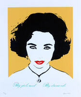 Bambi, 'Big Girls Need Big Diamonds (Liz Taylor - Orange)'