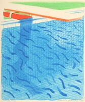 David Hockney, 'Pool Made with Paper and Blue Ink (from Paper Pools)', 1980