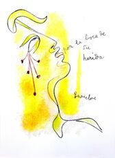 "Original Lithograph ""Profile"" by Jean Cocteau"