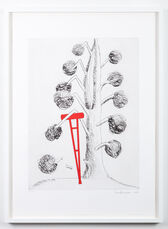 Topiary: The Art of Improving Nature, Tree with Red Crutch
