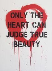 """Heart"" Red – Acrylic Spray Paint on Canvas"