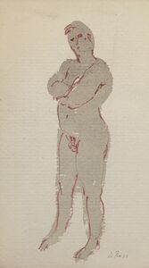 Alvin Ross, 'Portly Male Nude', Mid 20th c.