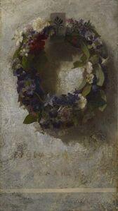 John La Farge, 'Agathon to Erosanthe (Votive Wreath)', 1861