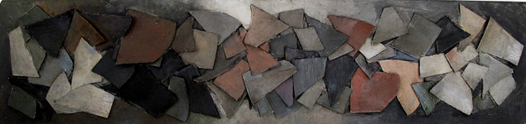 Ofício da Cor: pinturas e objetos de Bárbara Spanoudis, installation view