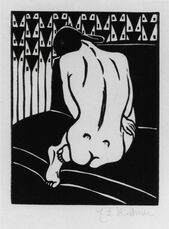 Kauernder Akt, vom Ruecken gesehen (Crouching Nude Seen from Behind).