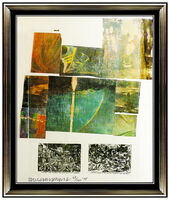 Robert Rauschenberg, 'Robert Rauschenberg Original Color Silkscreen Fabric Collage Signed Modern Art', 1970-1989