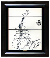 Arman, 'ARMAN Pierre Fernandez Original Abstract Ink Drawing Signed Violin Sculpture Art', 1970-1989