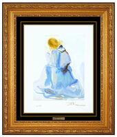 Salvador Dalí, 'Salvador Dali Wood Engraving The Angel Paradise Canto 2 Signed Divine Comedy Art', 1950-1969