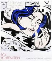 """Roy Lichtenstein, '""""Drowning Girl"""" by Roy Lichtenstein, MOMA First Edition Billboard Poster', 1989"""