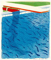 David Hockney, 'Pool Made with Paper and Blue Ink for Book', 1980