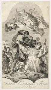 Giovanni Domenico Tiepolo, '[The stoning of Saint Stephen]', 1754