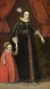 Marcus Gheeraerts the Younger, 'Portrait of a Lady and Child, traditionally identified as Prince Rupert (1619-1682) and his mother Elizabeth of Bohemia (1596-1662)'