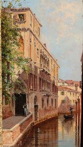 Antonietta Brandeis, 'A Gondolier on a Venetian Backwater', ca. 1890