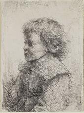 Portrait of a Boy in Profile