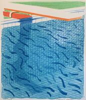 David Hockney, 'Pool Made with Paper and Blue Ink for Book, from Paper Pools (incl. book & slip case)', 1980