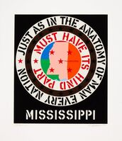 Robert Indiana, 'Mississippi, from Decade', 1971